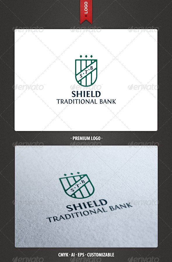 STB Shield Logo Template