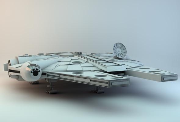 3DOcean Millennium Falcon 92312