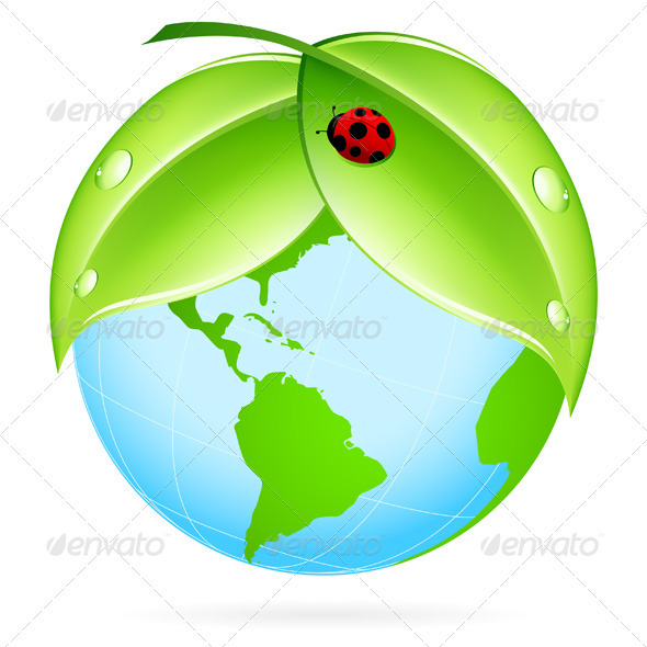 Green Earth Icon - Objects Vectors