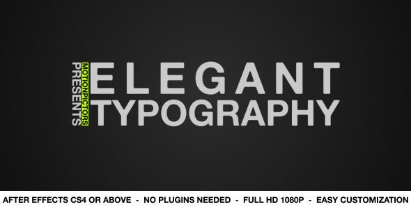 VideoHive Elegant Typography 2529635