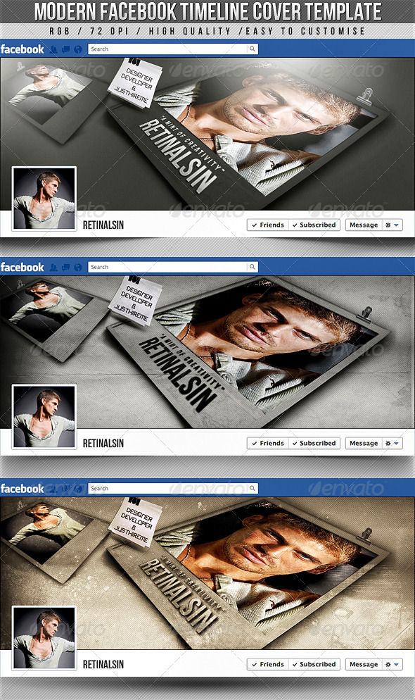 GraphicRiver Modern Facebook Timeline Cover 2529723