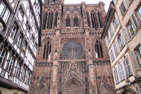 Strasbourg cathedral - Stock Photo - Images