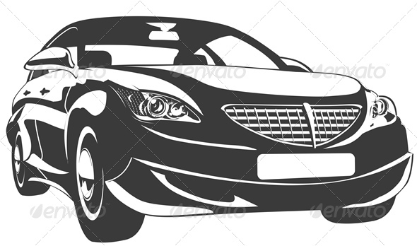 Vector Abstract Modern Car