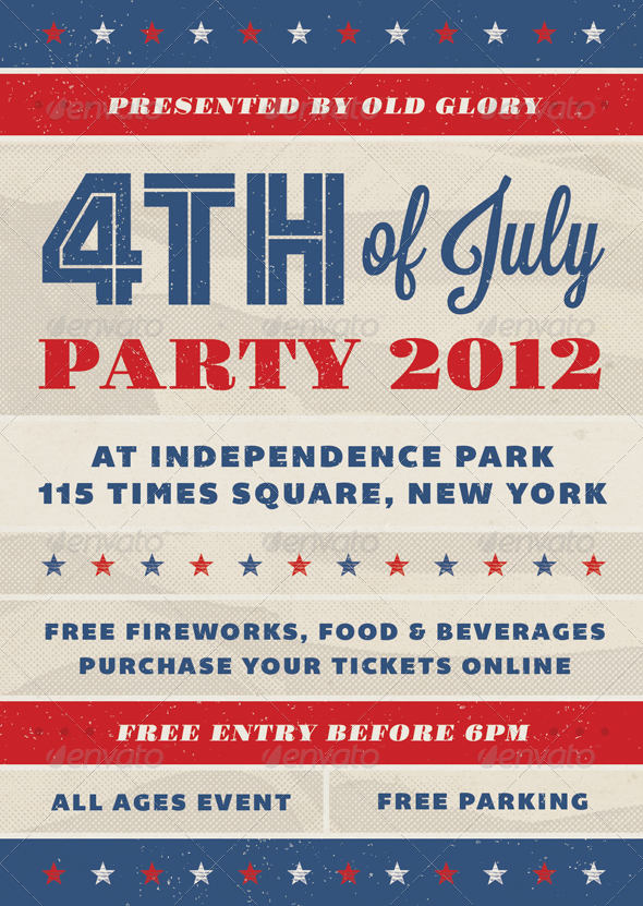 Old Glory Fourth of July Event Flyer