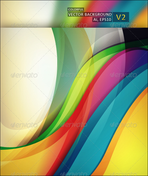 Colorful Vector Background V2 - Backgrounds Decorative