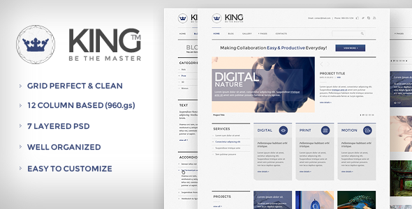 ThemeForest KING PSD Template 2530399