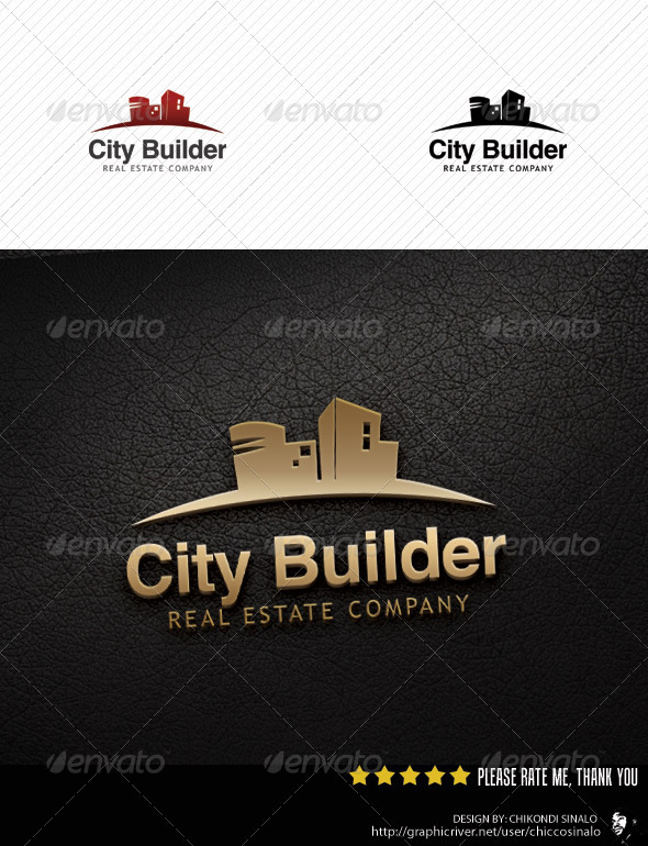 City Builder Logo Template - Buildings Logo Templates