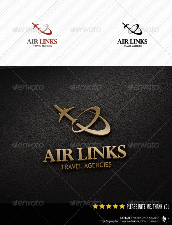 Air Links Logo Template - Abstract Logo Templates