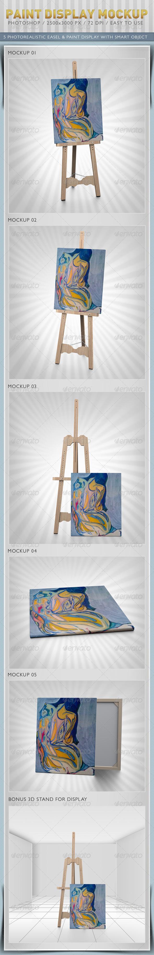 Paint Display Mockup - Miscellaneous Displays