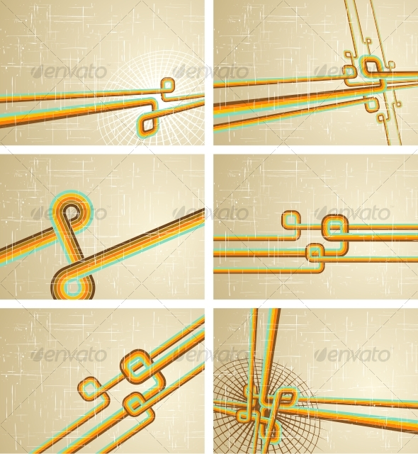 GraphicRiver Collection of retro grunge backgrounds 92438