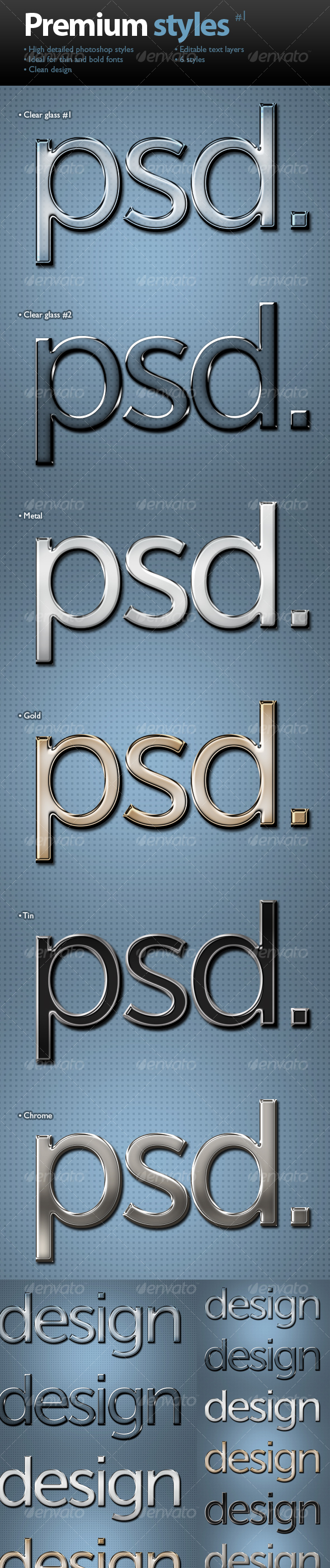 Premium text styles - GraphicRiver Item for Sale