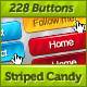 228 Striped Candy Web Buttons - GraphicRiver Item for Sale