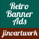 Retro Transparent Banner for Advertisement
