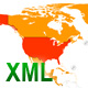 XML North America Map with URL links - ActiveDen Item for Sale