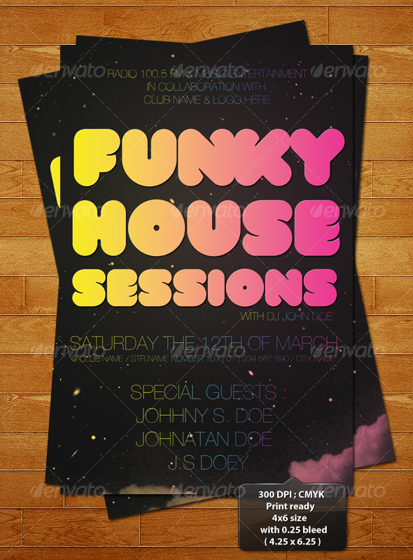 Funky Space Club Posters - Clubs & Parties Events