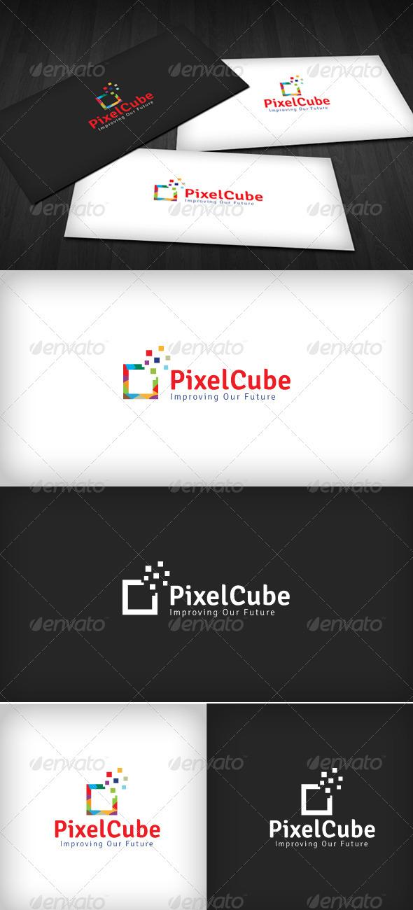 GraphicRiver Pixel Cube Logo 2532542