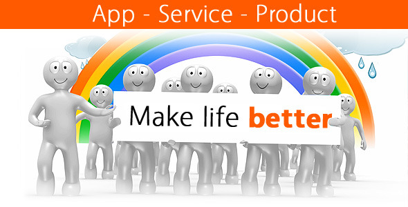 VideoHive Make Life Better App Service Product 2532652