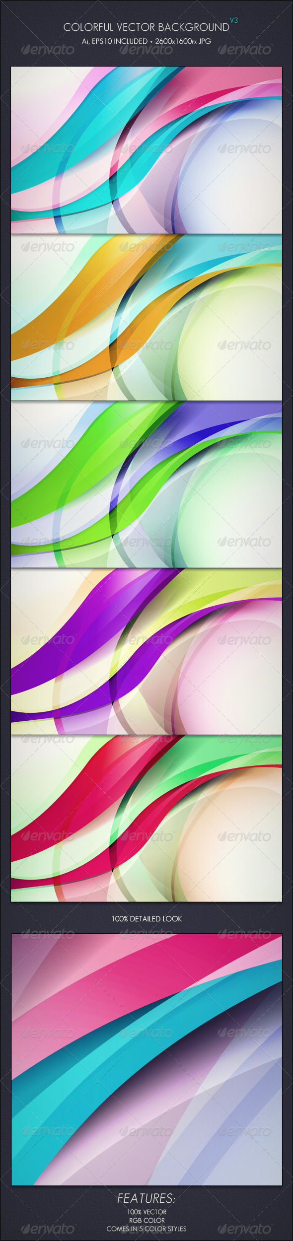 Colorful Vector Background V3 - Backgrounds Decorative