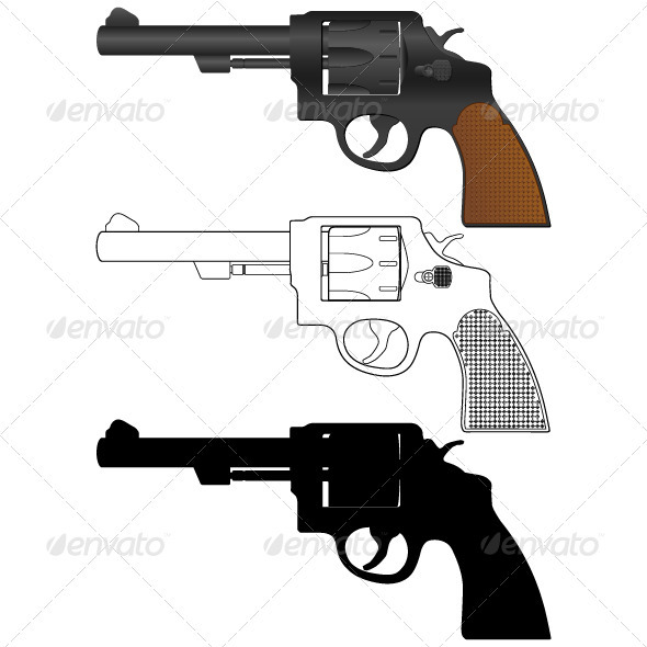 Revolver - Objects Vectors