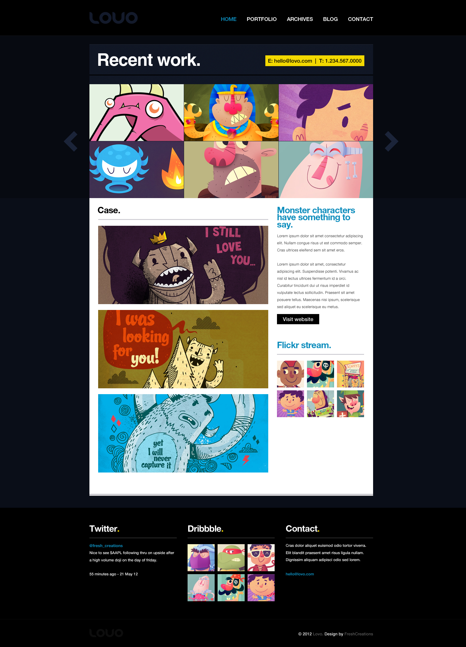 Lovo Portfolio and Blog Theme
