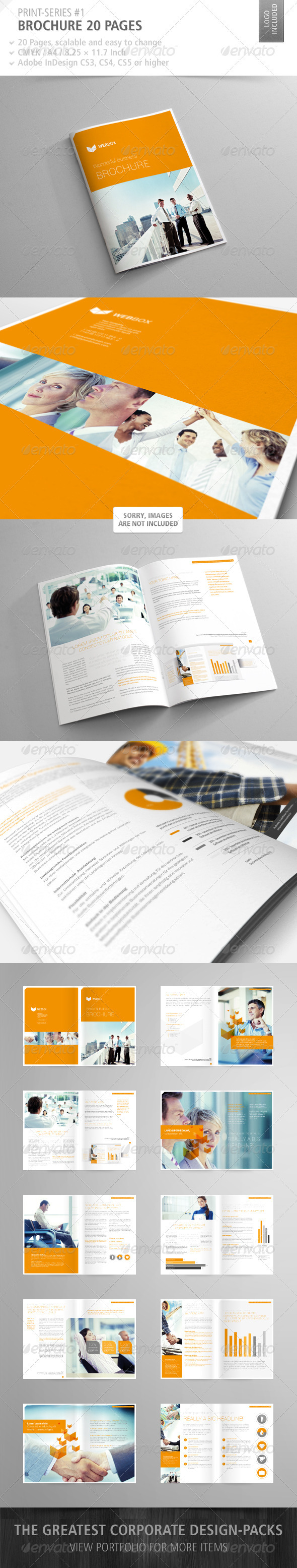 GraphicRiver Brochure 20 Pages Print-Series #1 2393281