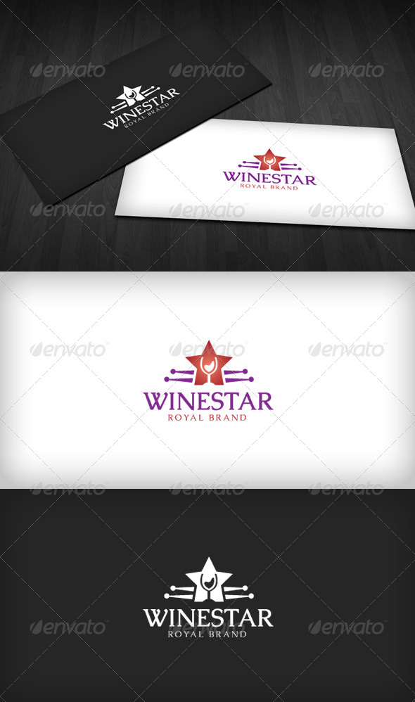 Wine Star Logo - Objects Logo Templates