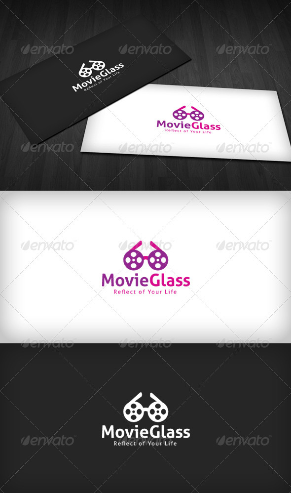 Movie Glass Logo - Symbols Logo Templates