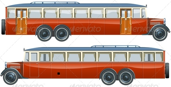 Vector Retro Autobus