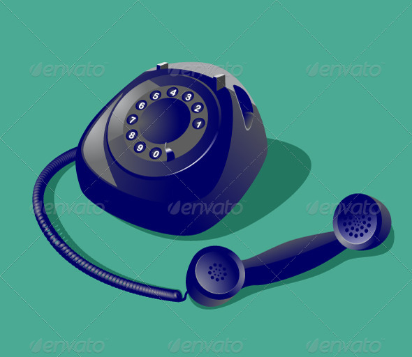 Vintage Phone - Objects Vectors
