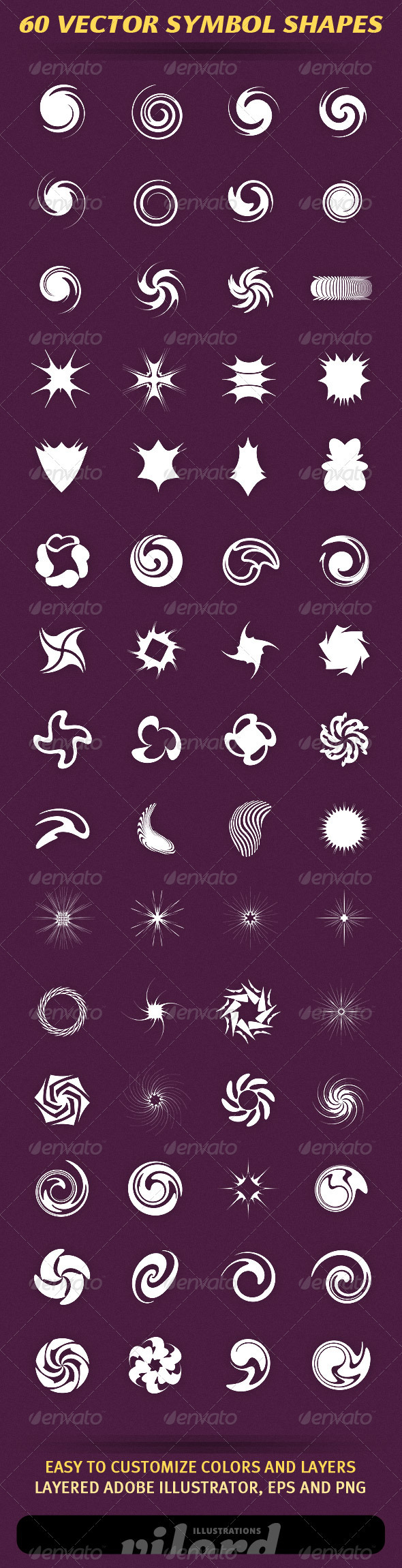 GraphicRiver 60 Vector Symbol Shapes 2533515