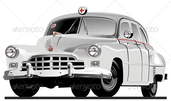 Vector Retro Ambulance