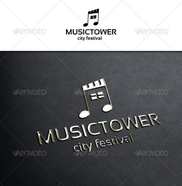 Music Tower - Symbols Logo Templates