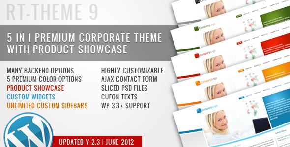 ThemeForest RT-Theme 9 Business Theme 5 in 1 For Wordpress 101242