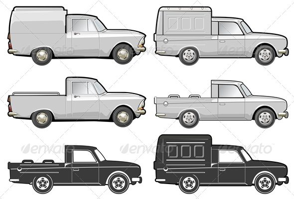 Vector Delivery Van Set