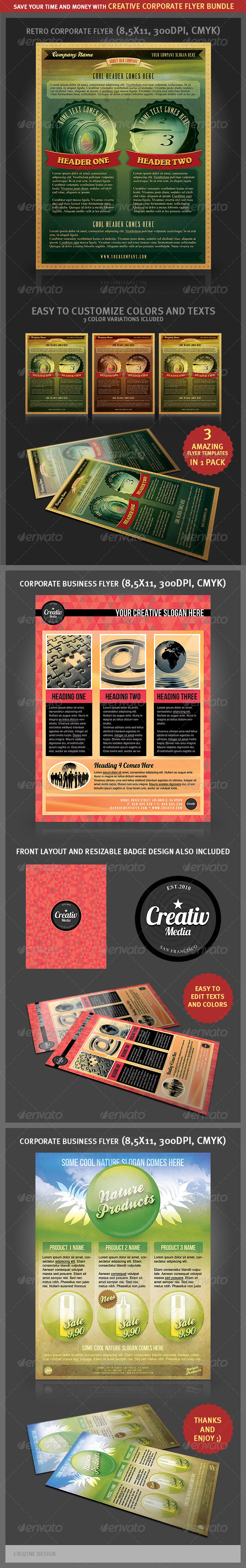 Creative Corporate Flyers Bundle - Corporate Flyers