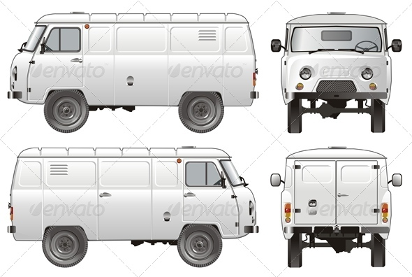 Vector Delivery Cargo Van 4x4 - Man-made objects Objects