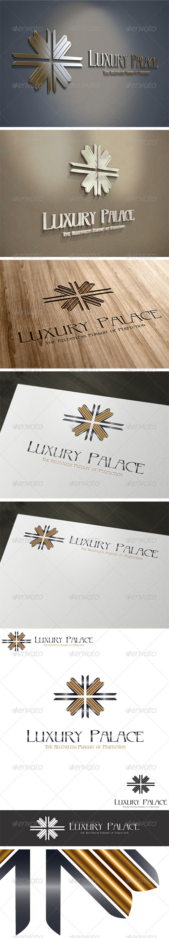 3D Luxury Hotels Logo Template V3 - 3d Abstract