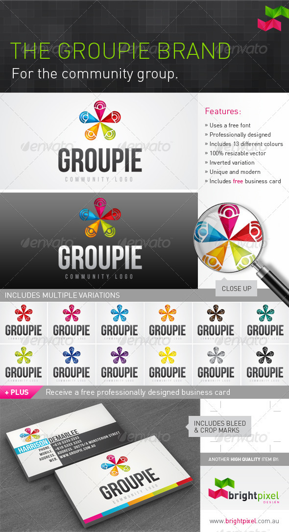 Groupie Logo - Vector Abstract