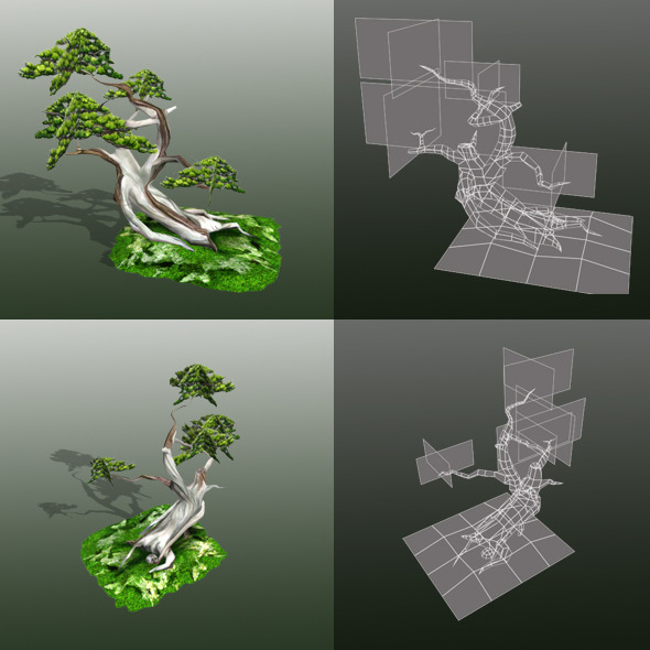 Bonsai LowPoly - 3DOcean Item for Sale