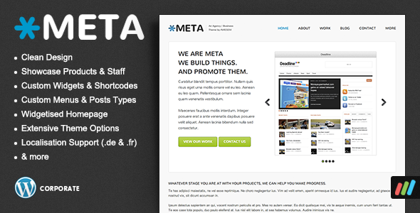 ThemeForest Meta Agency Business Corporate WordPress Theme 1969789