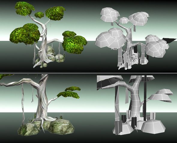3DOcean Trees Low Poly 2507057
