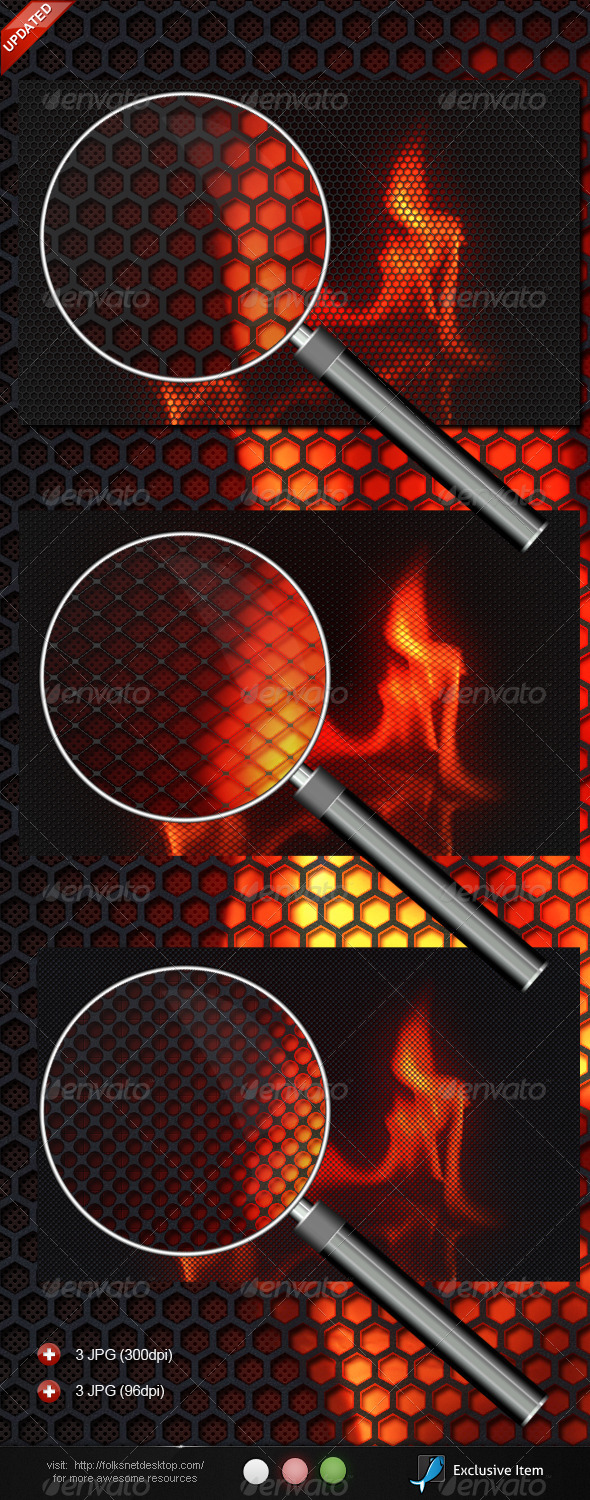 Graphic River Burning Carbon Graphics -  Backgrounds 514077