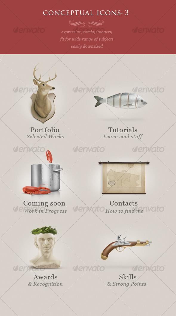 GraphicRiver conceptual icons vol.3 92500