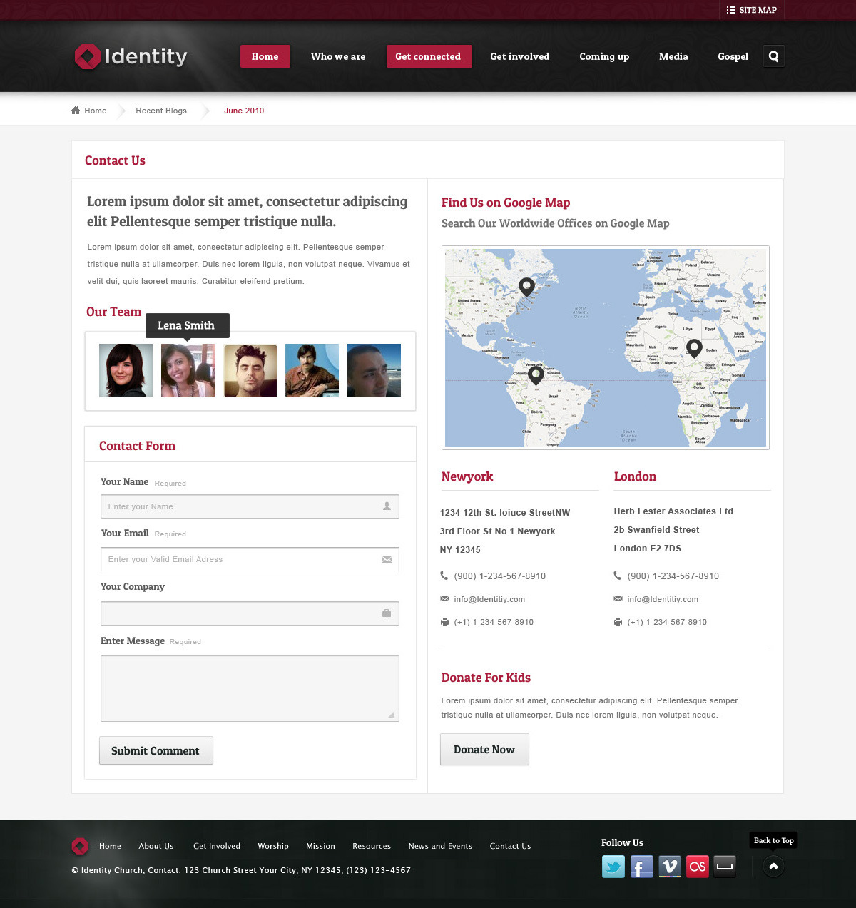 Identity Church and NGO Template
