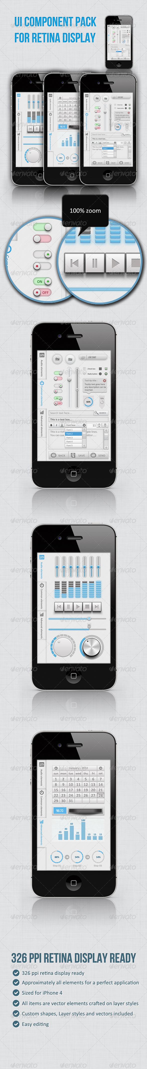 Full Ui Kit For Retina Display - User Interfaces Web Elements