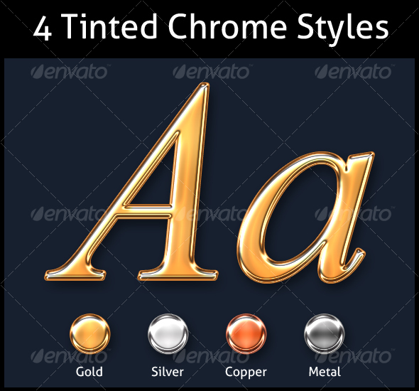 GraphicRiver Chrome Tinted Fx Gold Silver Copper Metal 92522