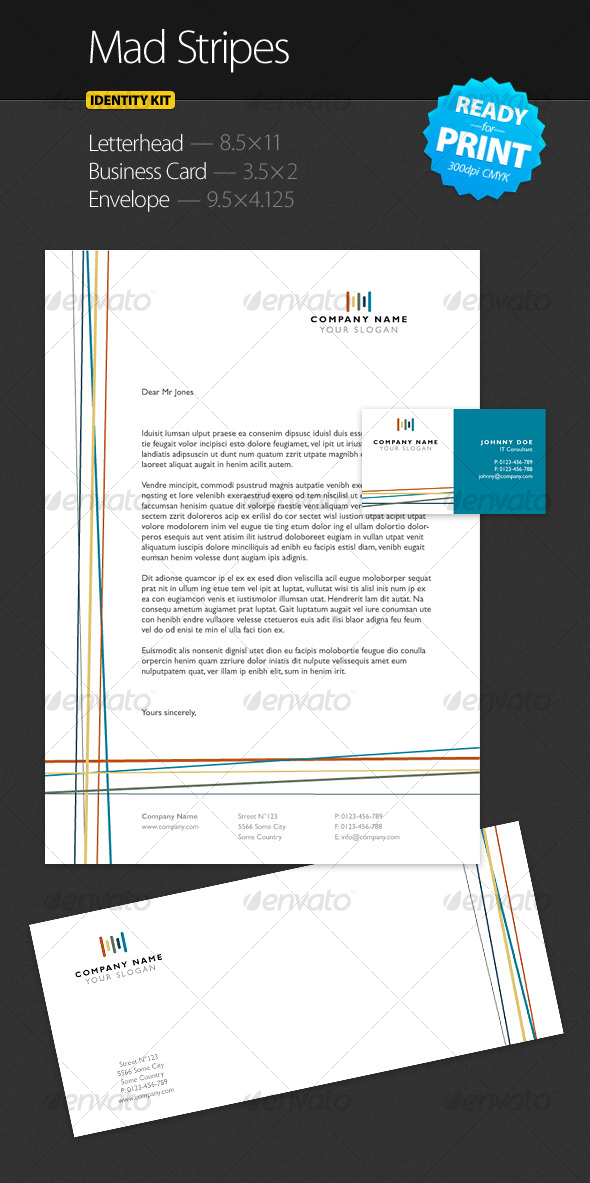 GraphicRiver Mad Stripes Identity Kit 92526