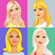 four young beautiful blonde girl smiling - GraphicRiver Item for Sale