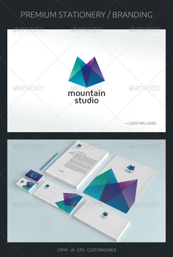 Mountain Studio - Corporate Identity - Stationery Print Templates