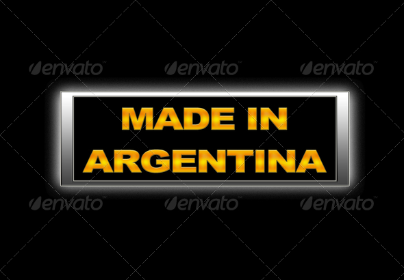 Made in Argentina. - Stock Photo - Images